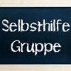Schild mit der Beschriftung Selbsthilfegruppe
