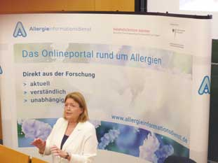 Prof. Fölster-Holst beim Patientenforum Allergie 2019