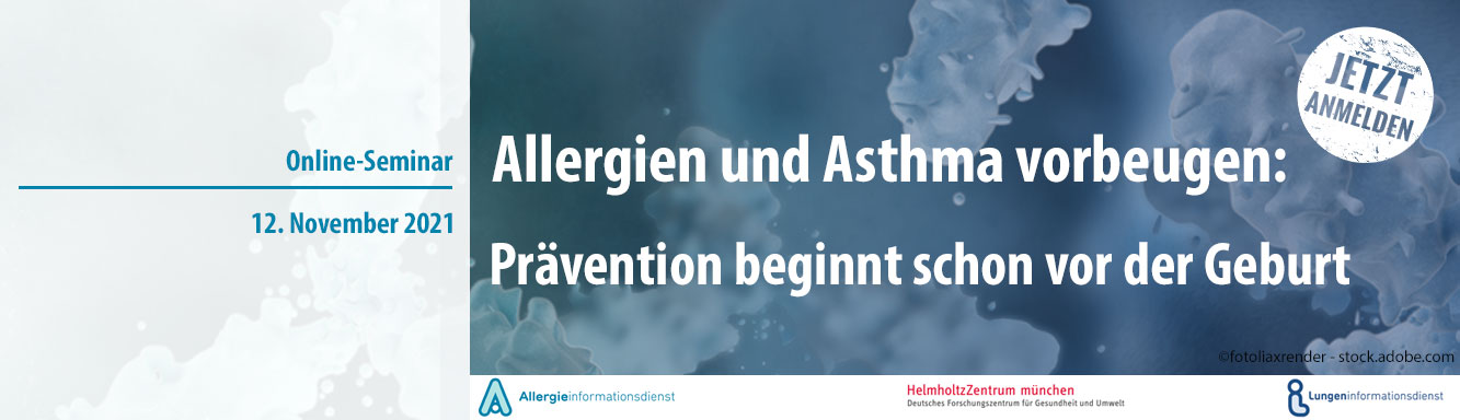 """Online-Seminar """"Allergien & Asthma vorbeugen"""" ©fotoliaxrender - stock.adobe.com"""