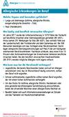 """Läd PDF-Datei Faktenblatt """"Allergische Erkrankungen im Beruf"""" herunter."""