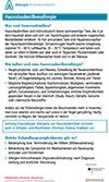 """Läd PDF Faktenblatt """"Hausstaubmilbenallergie"""" herunter."""