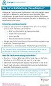 """Läd PDF Faktenblatt """"Was tun bei Pollenallergie (Heuschnupfen)?"""" herunter"""