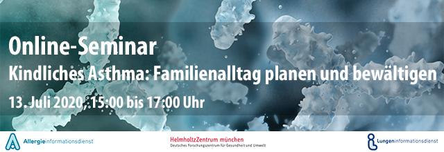 Webinar Kindliches Asthma - Familienalltag planen und bewältigen