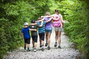Kinder unterschiedlicher Größe laufen nebeneinander her (von hinten aufgenommen) - © MurielleB/fotolia.com