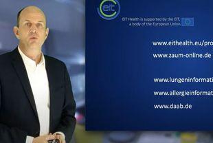 Bildschirmausschnitt zum Erklärvideo über ADAPT (Prof. Dr. Carsten Schmidt-Weber, ZAUM/TUM/Helmholtz Zentrum München