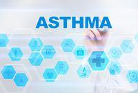 Das Wort Asthma wird von einer Hand geschrieben