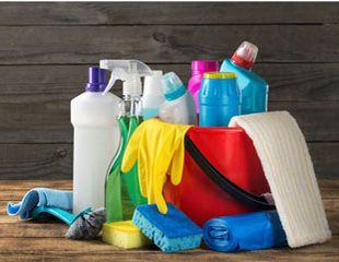 Bild verschiedener Reinigungsmittel