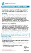 """Läd PDF Faktenblatt """"Nahrungsmittelallergien durch Kreuzallergien"""" herunter"""